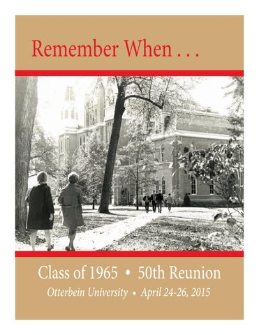68dbfa25fdd78 2015 50th Reunion Memory Book (Class of 1965) by Otterbein ...