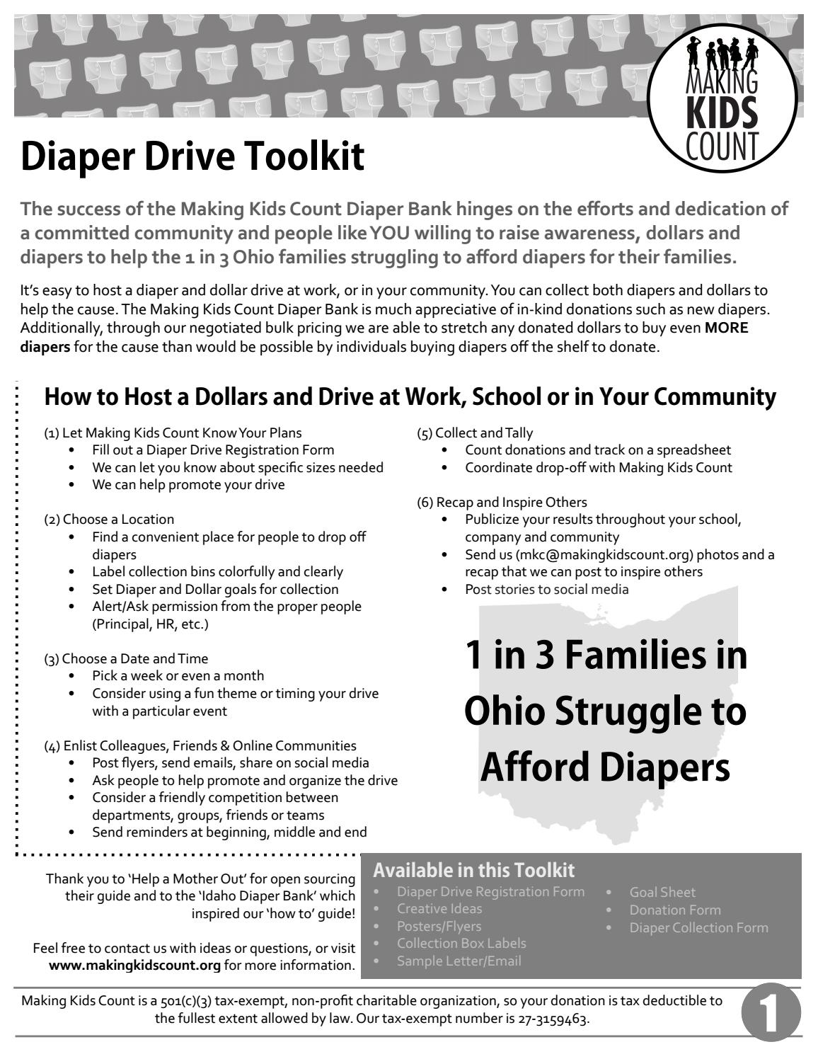 Making Kids Count Diaper Drive Toolkit By Jana Coffin Issuu