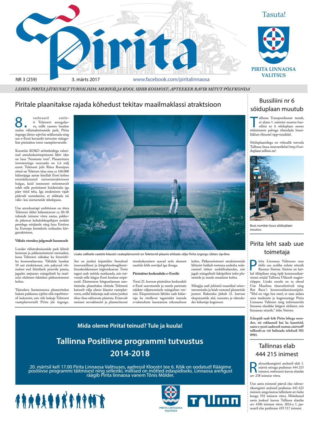 b217f7e56cf Pirita leht märts 2017 by Piritalinnaosavalitsus - issuu