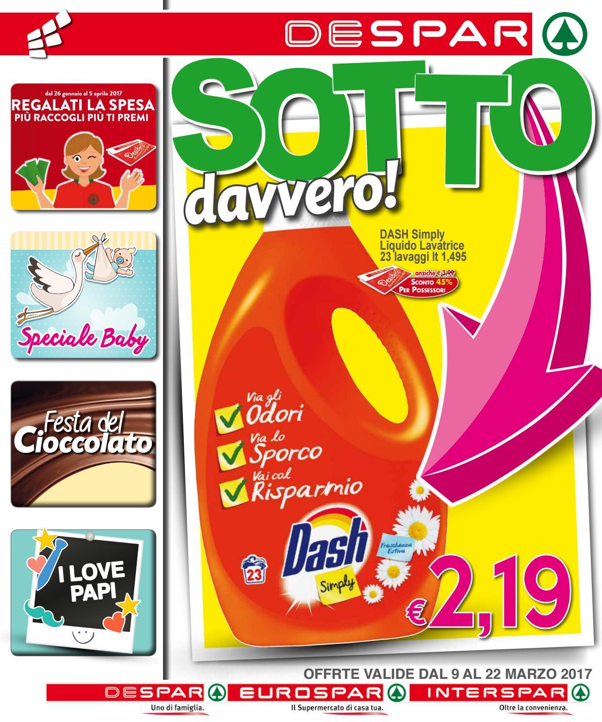 Volantino despar eurospar interspar dal 9 al 22 marzo for Volantino offerte despar messina