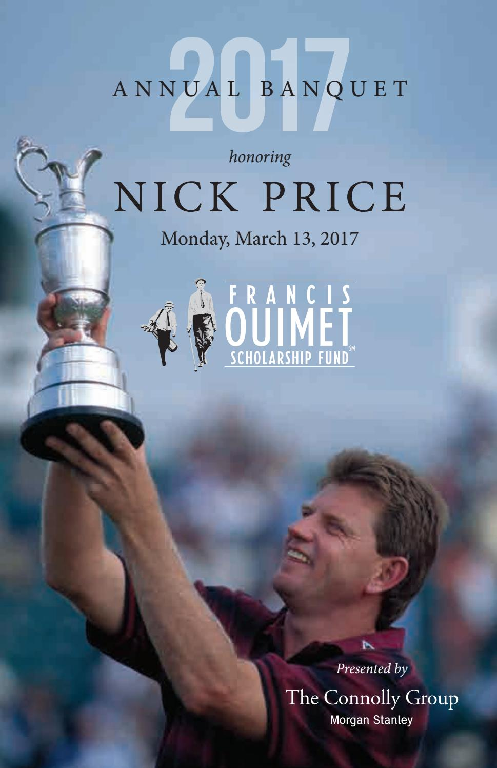2017 Ouimet Banquet Program Book by Francis Ouimet Scholarship Fund - issuu