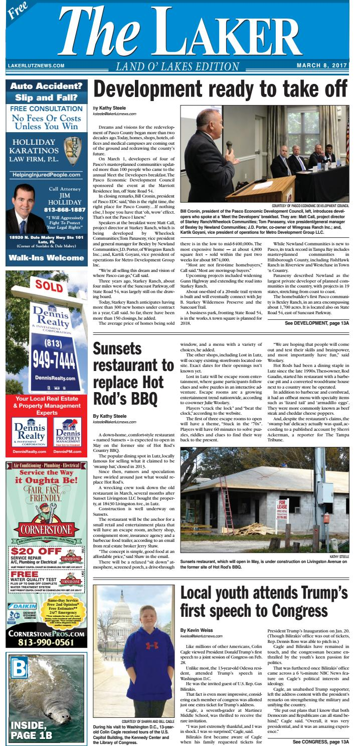 The laker land o lakes march 8 2017 by lakerlutznews issuu thecheapjerseys Gallery