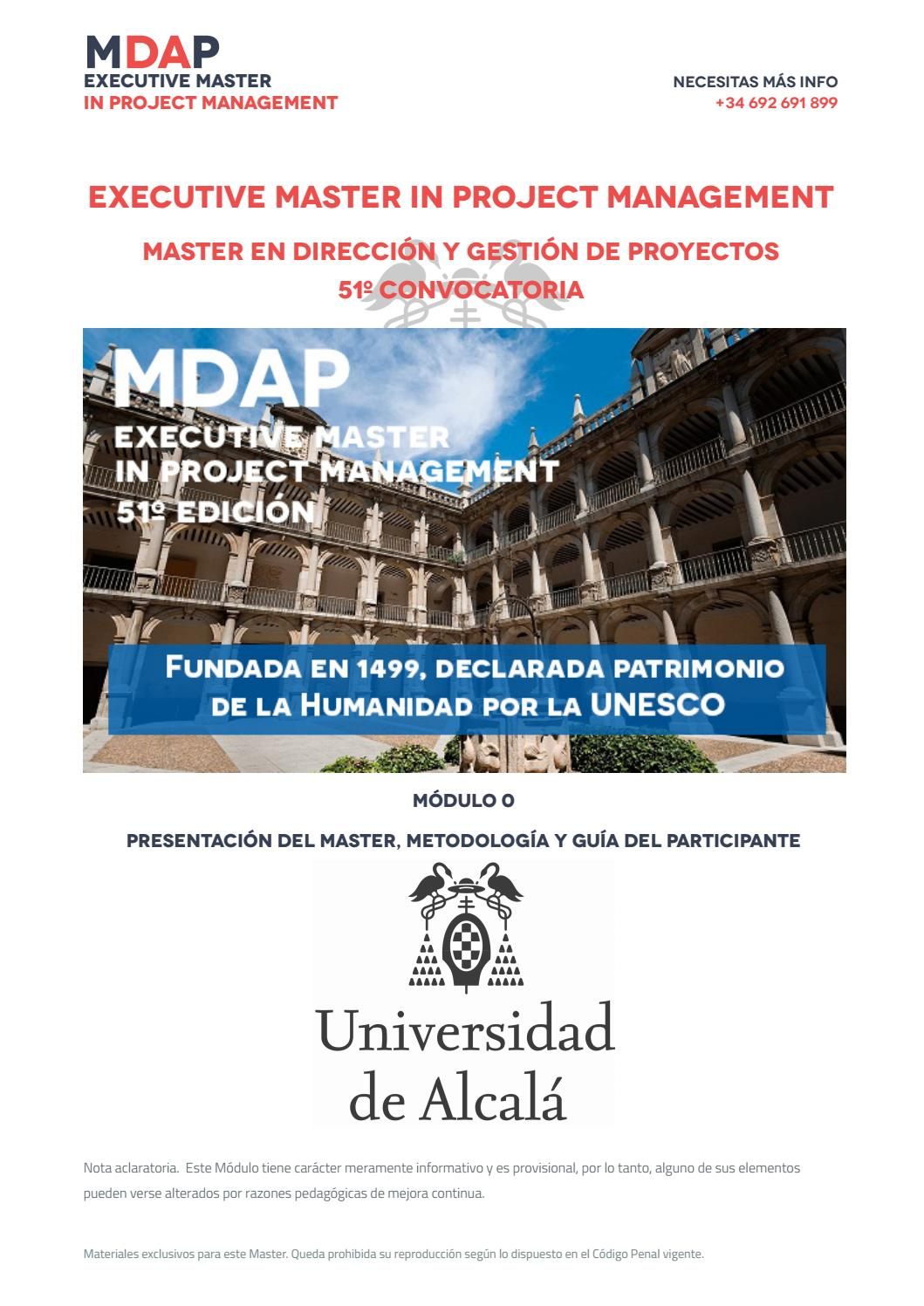 Modulo 0 del Executive Master In Project Management by MDAP - issuu