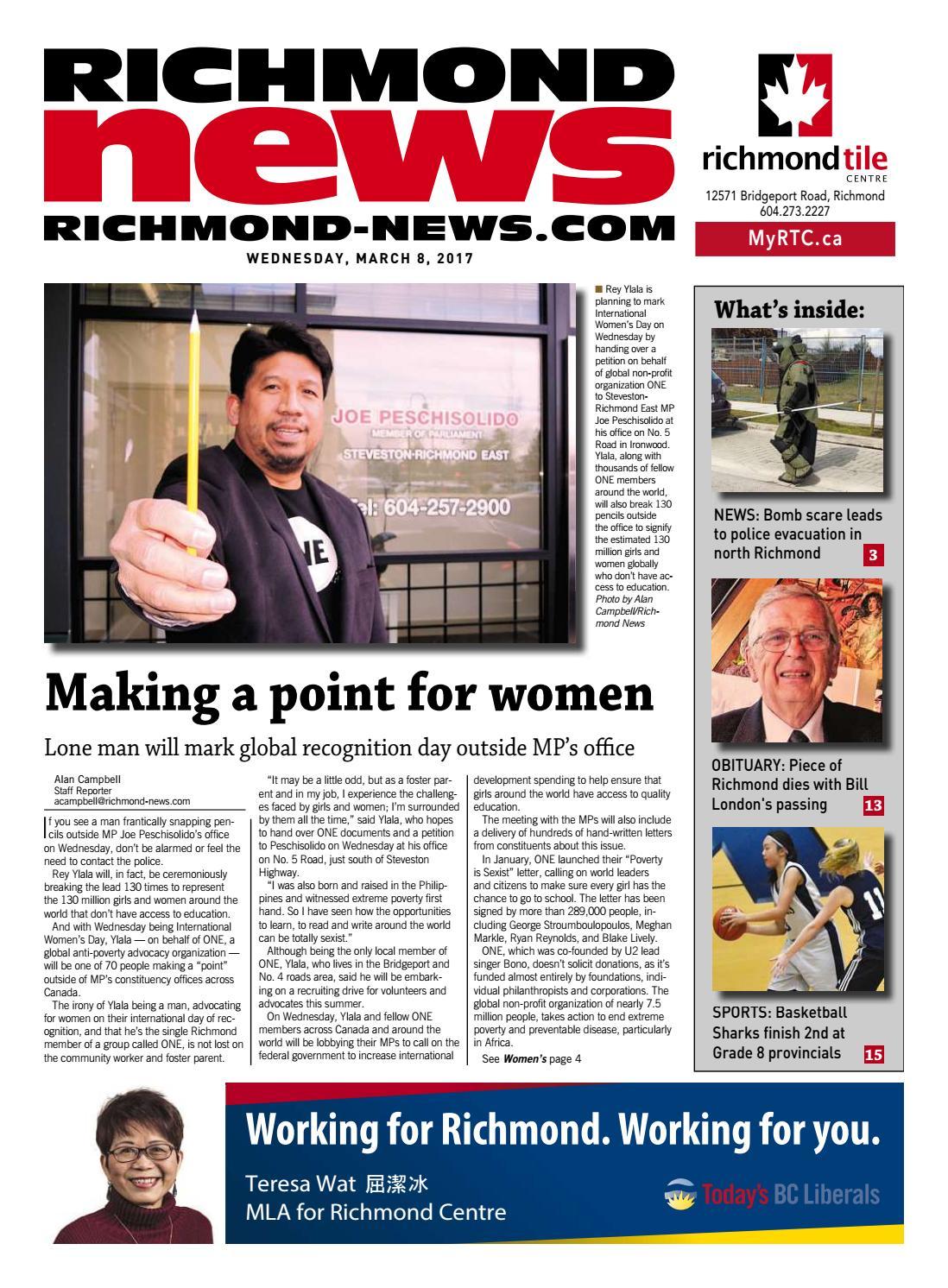 Richmond News March 8 2017 by Richmond News - issuu