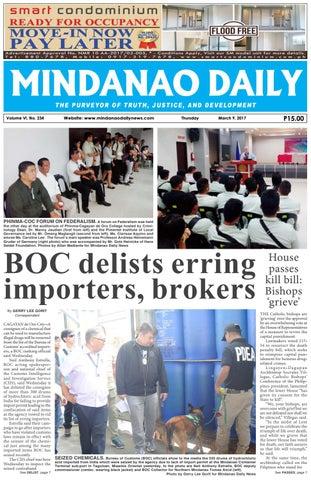 Mindanao Daily Set A (March 9, 2017) by Mindanao Daily News