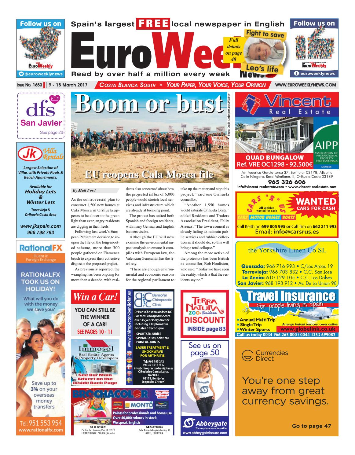 Euro Weekly News - Costa Blanca South 9 - 15 March 2017