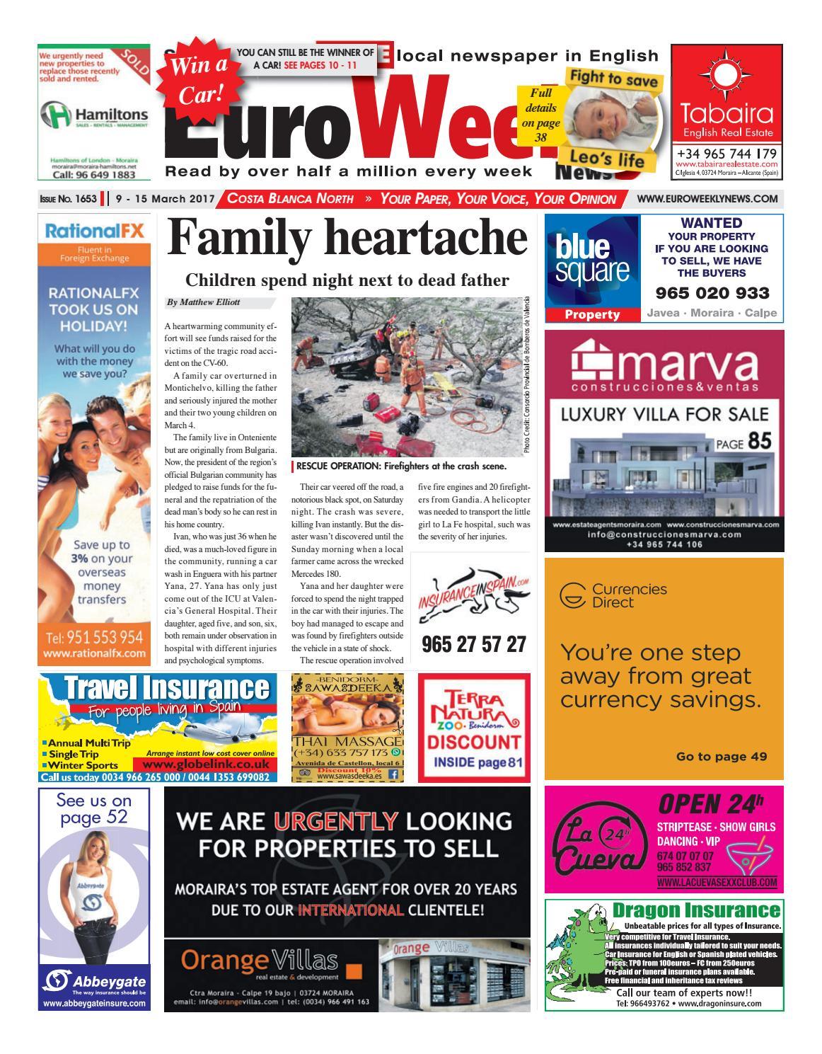 Euro Weekly News - Costa Blanca North 9 - 15 March 2017