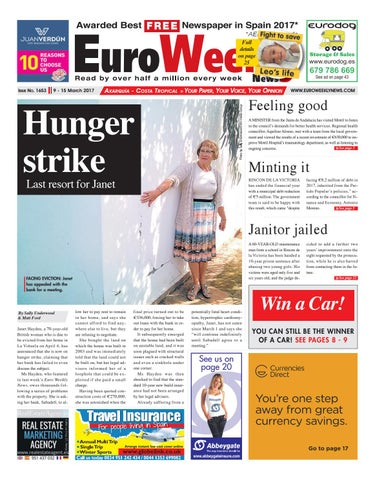 Euro weekly news axarquia 9 15 march 2017 issue 1653 by euro page 1 fandeluxe Gallery