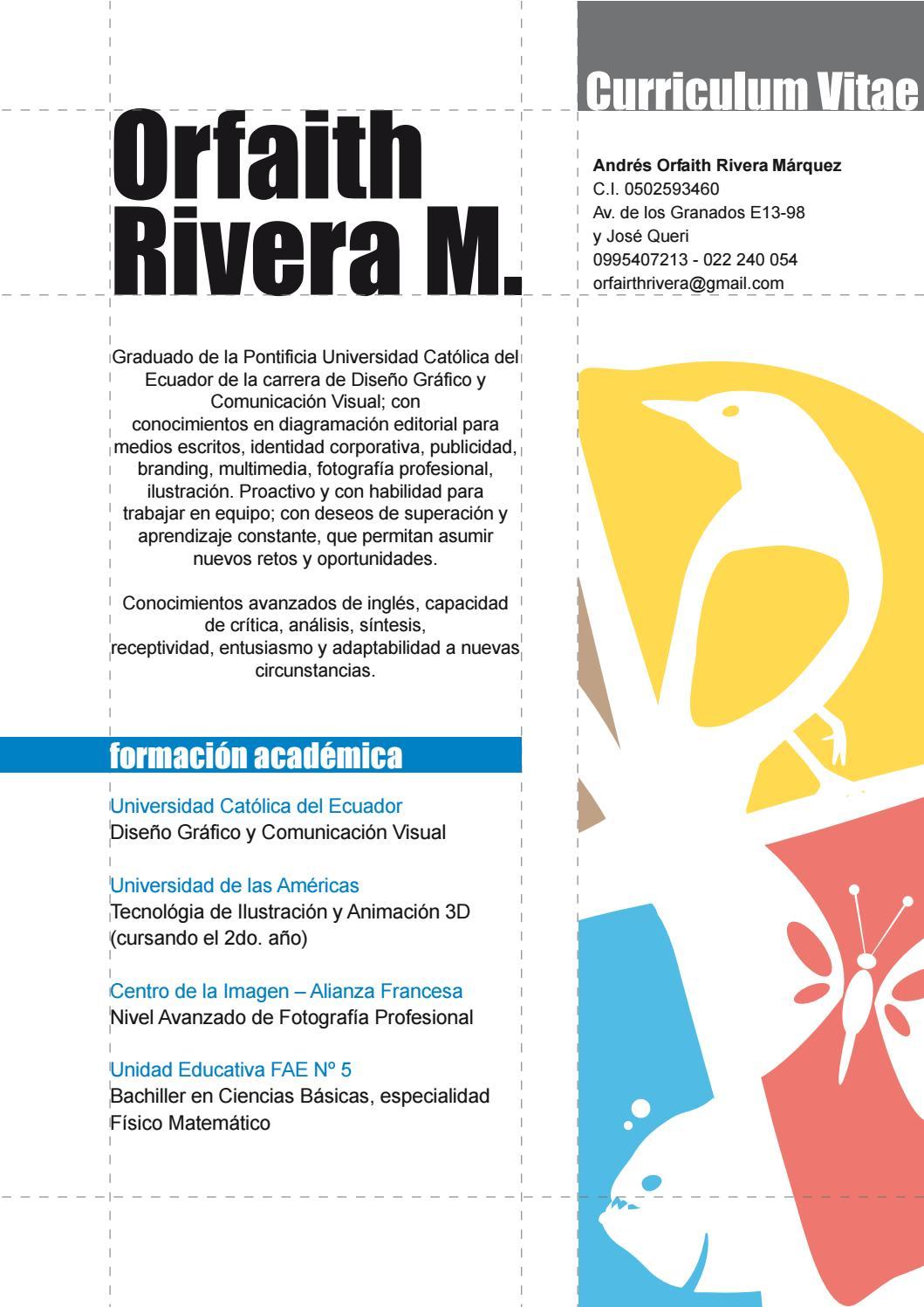 Orfaith Rivera CV/Portafolio by Orfaith Rivera Márquez - issuu