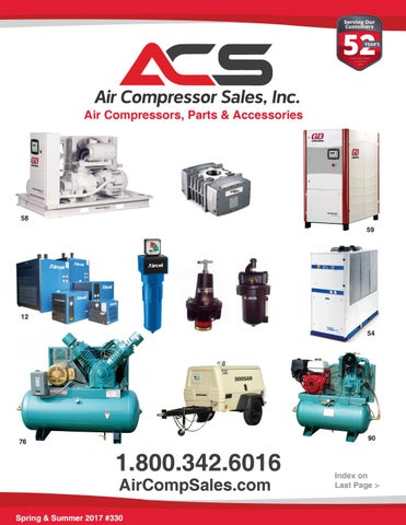 Spring & Summer 2017 Catalog - Air Compressor Sales, Inc  by