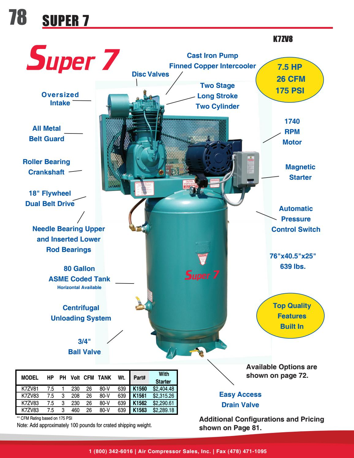 Spring & Summer 2017 Catalog - Air Compressor Sales, Inc  by