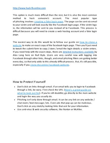 How to hack facebook - www hack-fb-online com by shaijal - issuu