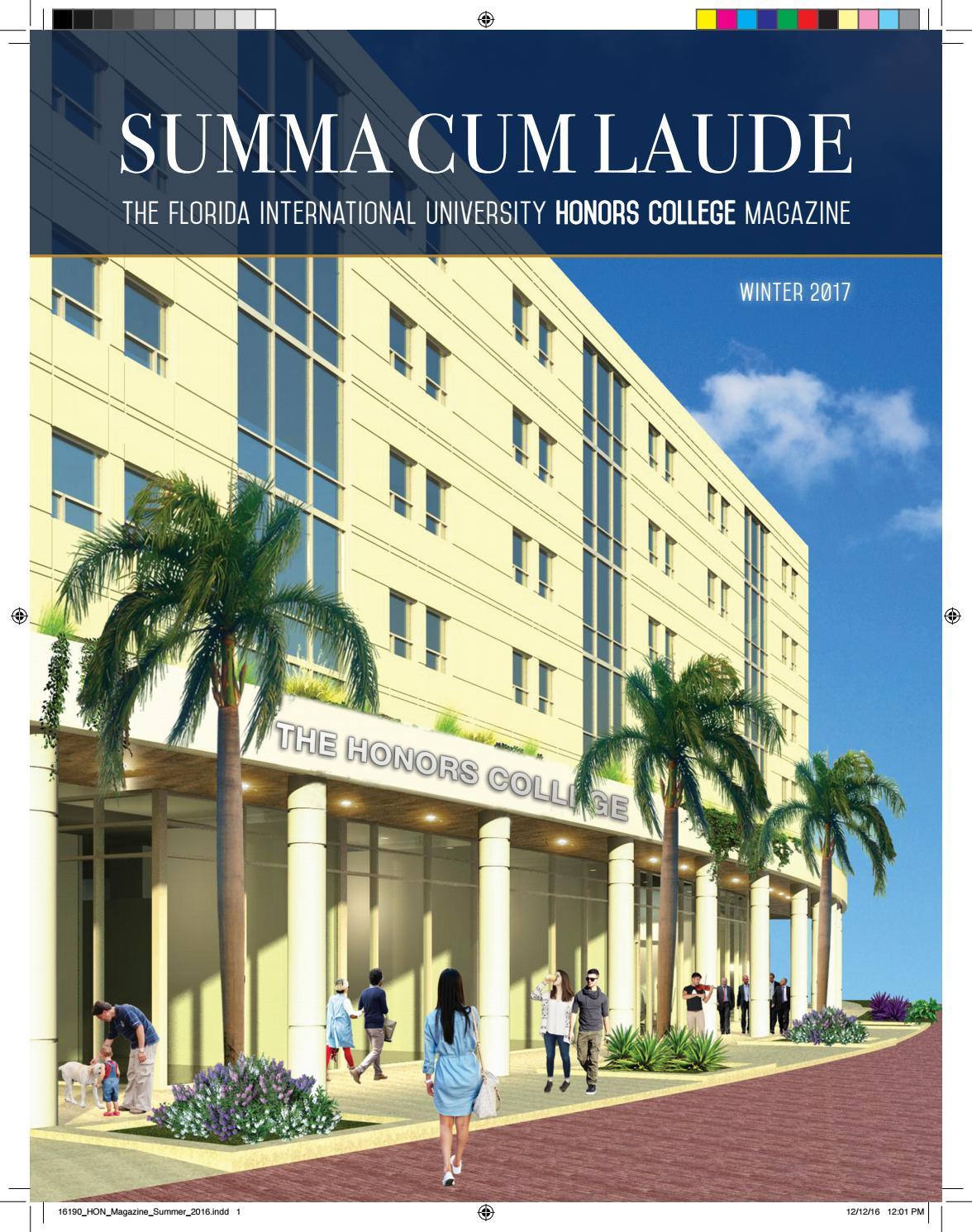 FIU Honors College Summa Cum Laude Magazine - Fall 2016 by ...