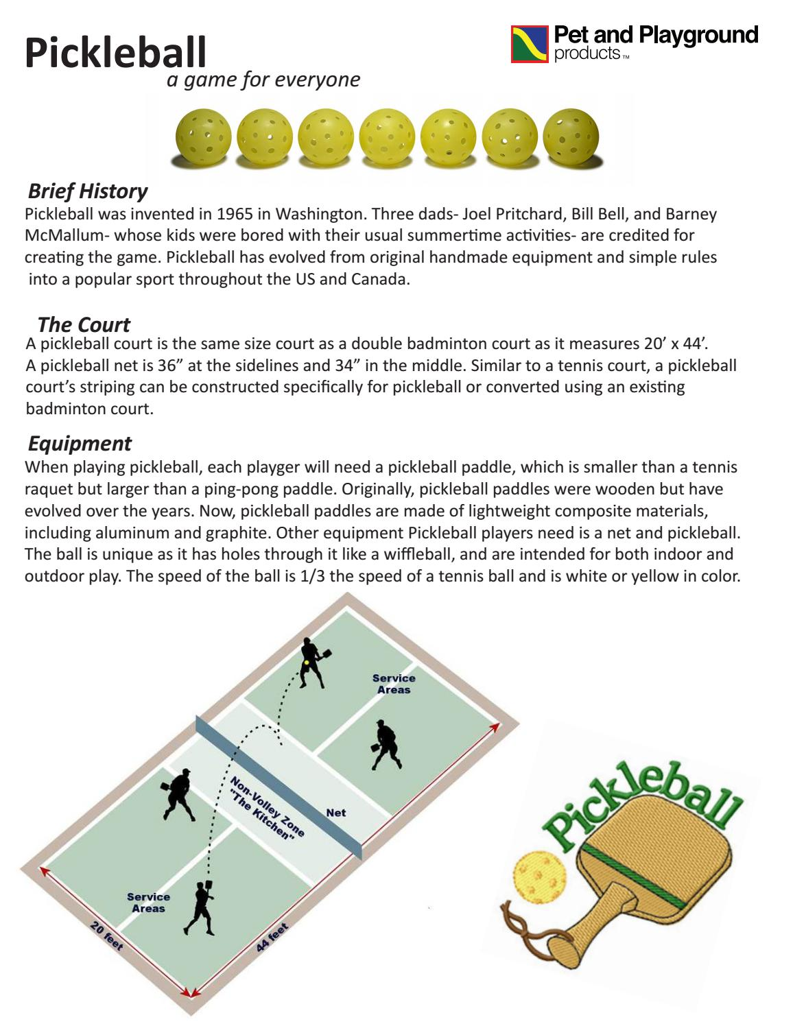 Pickleball By Pet And Playground Products Issuu