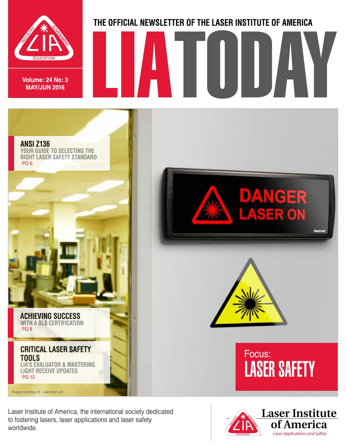 Lia today mayjune 2016 issue by laser institute of america issuu xflitez Gallery