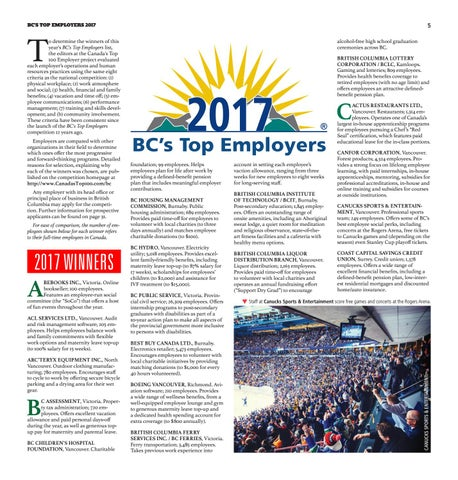 BC's Top Employers (2017) by Canada's Top 100 Employers - issuu