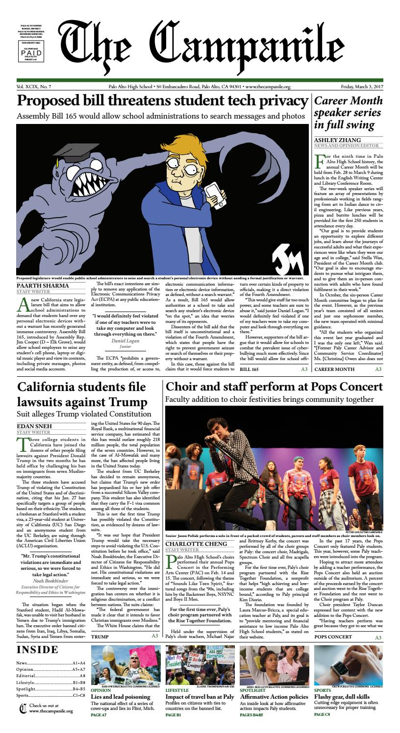 Issue 7, 3/3/2017 by The Campanile - issuu