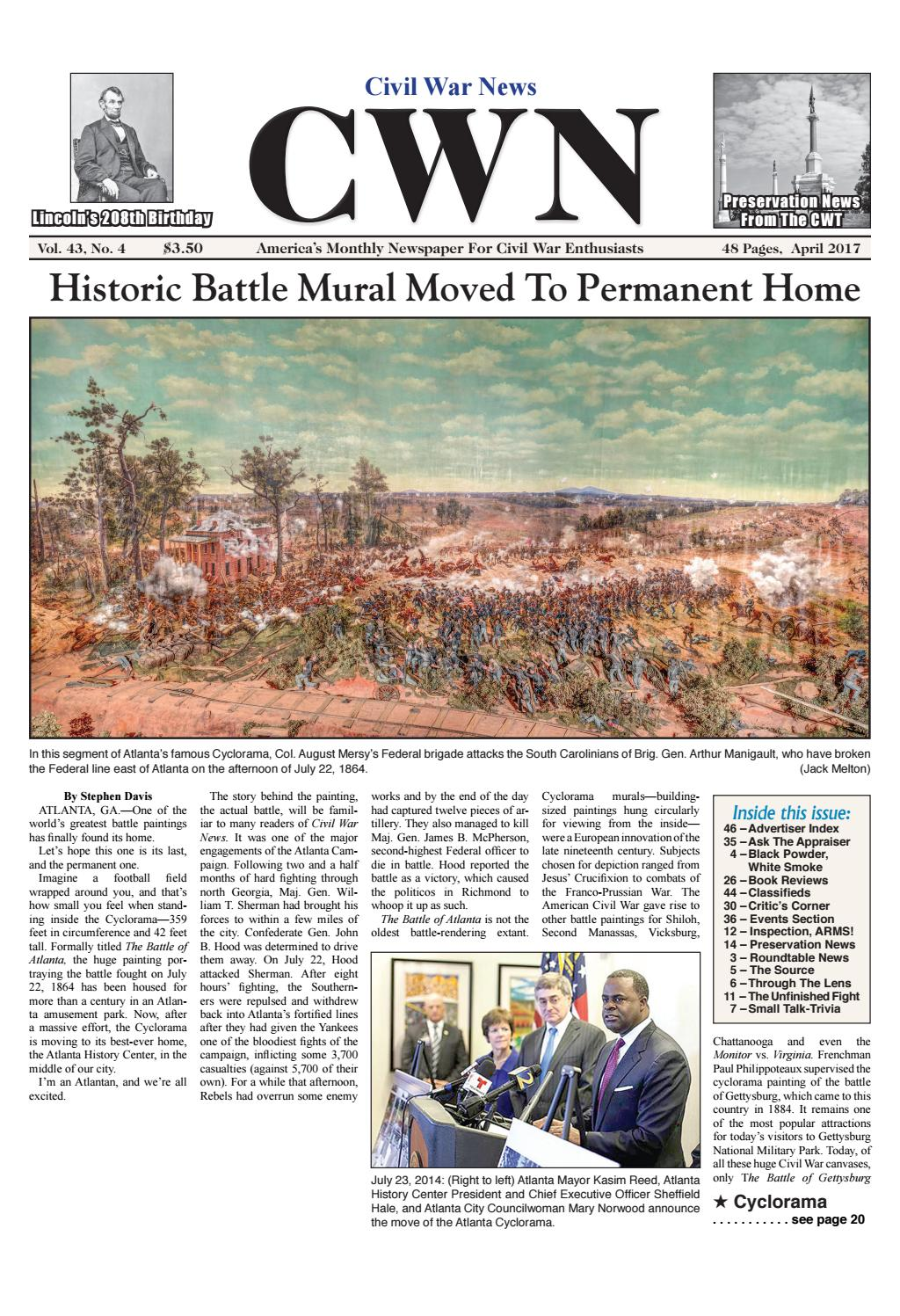 Civil War News April 2017 By Dealers Collectors Directory
