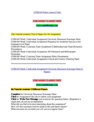 Com 600 study a clearer path to student success/com600study com by