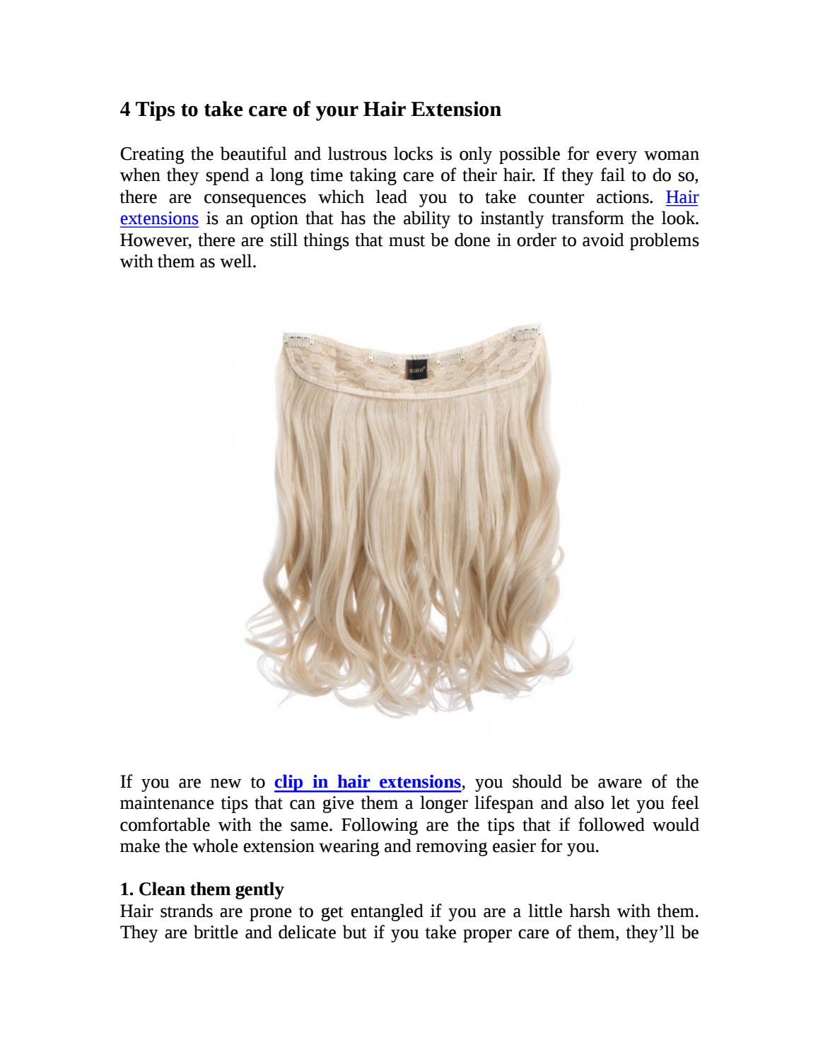 4 Tips To Take Care Of Your Hair Extension By Krystellie Fashion Issuu