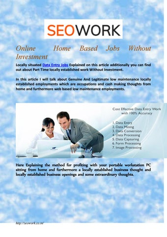 Online Home Investment Based Jobs Without By Seo Work Issuu