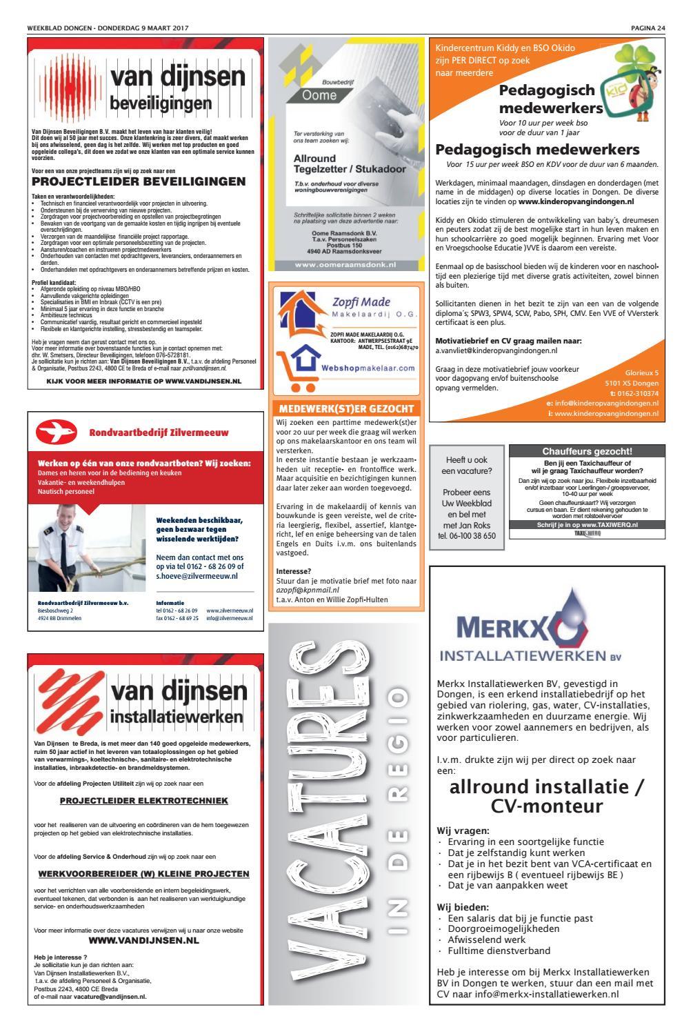 motivatiebrief taxichauffeur Weekblad Dongen 09 03 2017 by Uitgeverij Em de Jong   issuu
