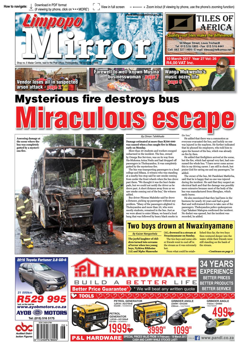 10 March 2017 Limpopo Mirror By Zoutnet Issuu Circuit Breakers Witbank O Olxcoza