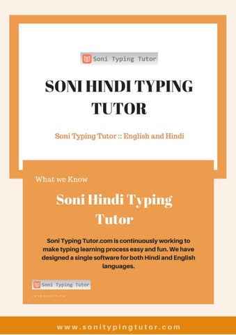Hindi typing tutorial by Soni Hindi Typing Tutor - issuu