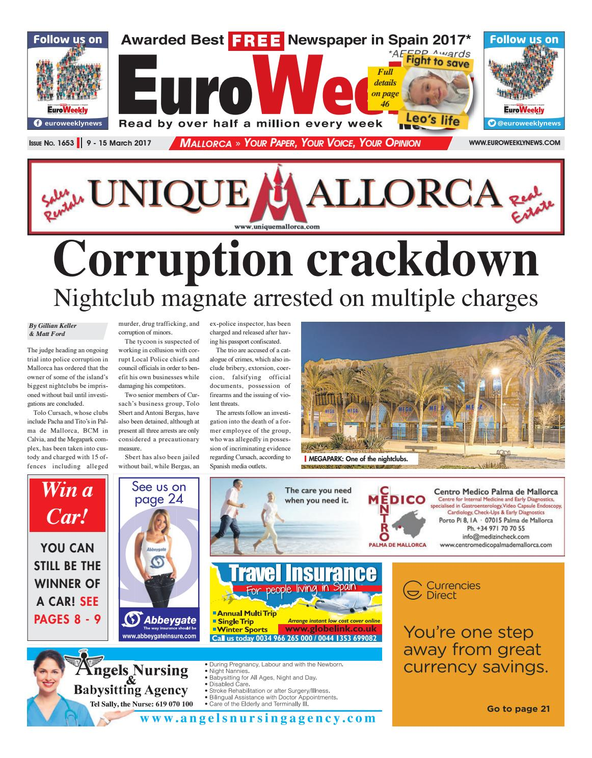 Euro weekly news mallorca 9 15 march 2017 issue 1653 by euro euro weekly news mallorca 9 15 march 2017 issue 1653 by euro weekly news media sa issuu fandeluxe Gallery