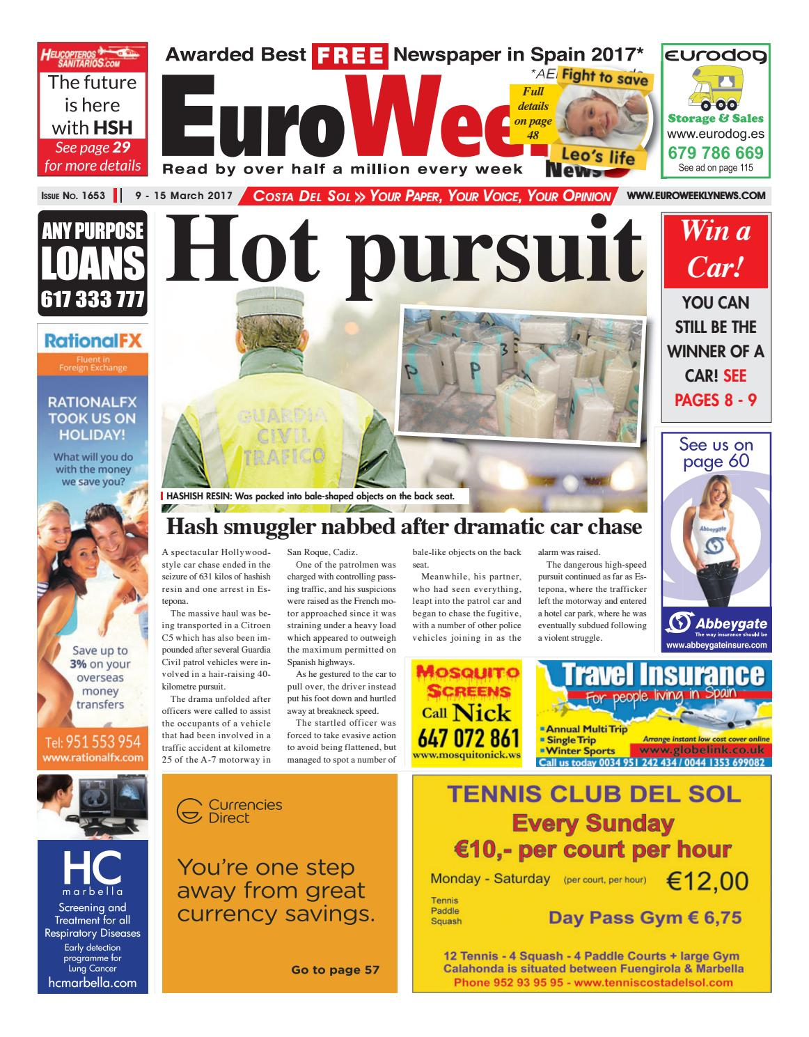 Euro weekly news costa del sol 9 15 march 2017 issue 1653 by euro weekly news costa del sol 9 15 march 2017 issue 1653 by euro weekly news media sa issuu fandeluxe Images
