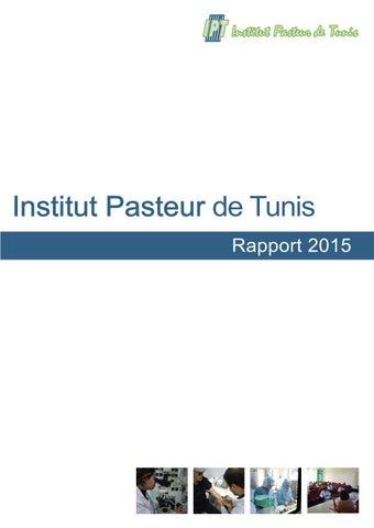 Rapport 2015 Institut Pasteur De Tunis By