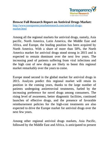 Antiviral drugs market by MarketTrends - issuu