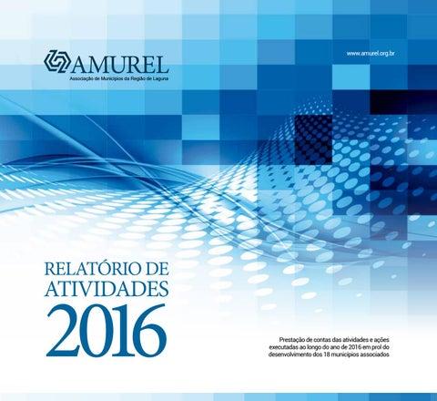 """Cover of """"Relatório Amurel - 2016"""""""