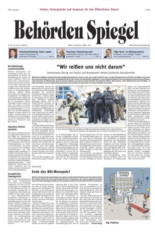 Behörden Spiegel März 2017 by propress - issuu