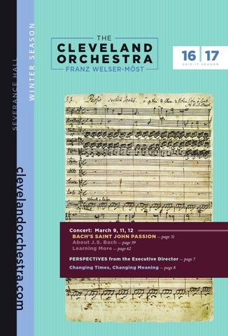The Cleveland Orchestra March 9 11 12 Concerts By Live Publishing