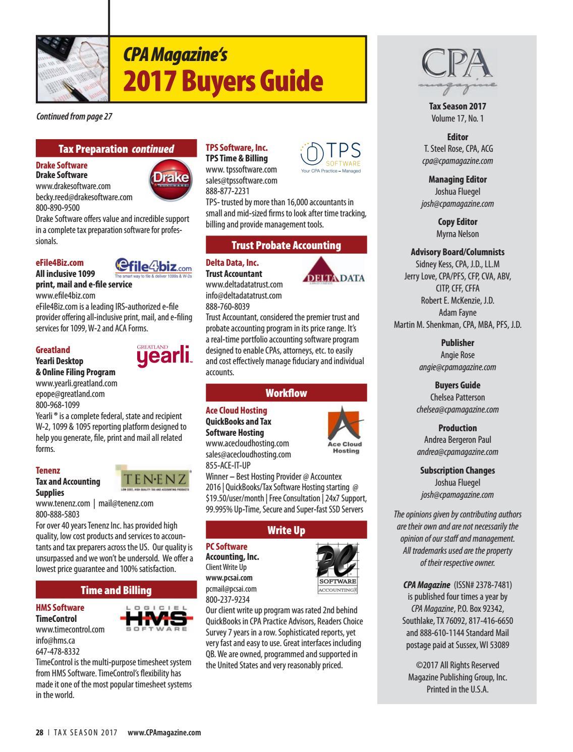 CPA Magazine Tax season 2017 by Collection Advisor - issuu