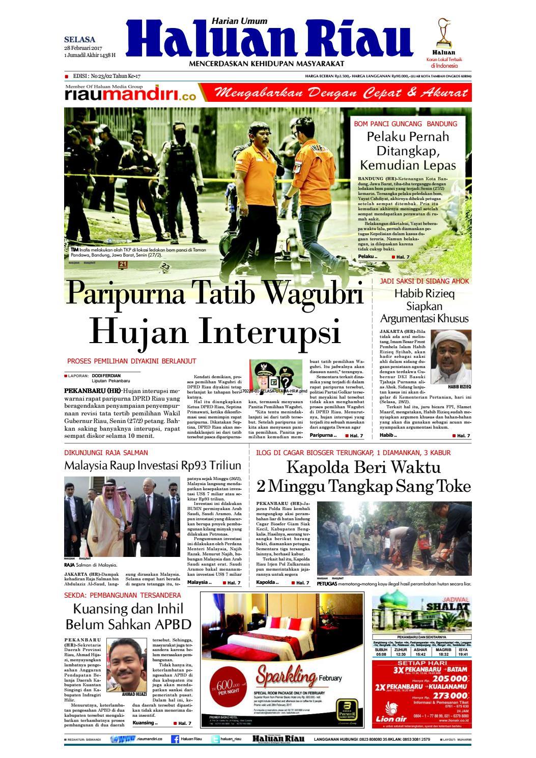 Haluanriau 2017 02 28 By Haluan Riau Issuu Produk Ukm Bumn Bale Sehat Teh Rosella Merah 3 Box