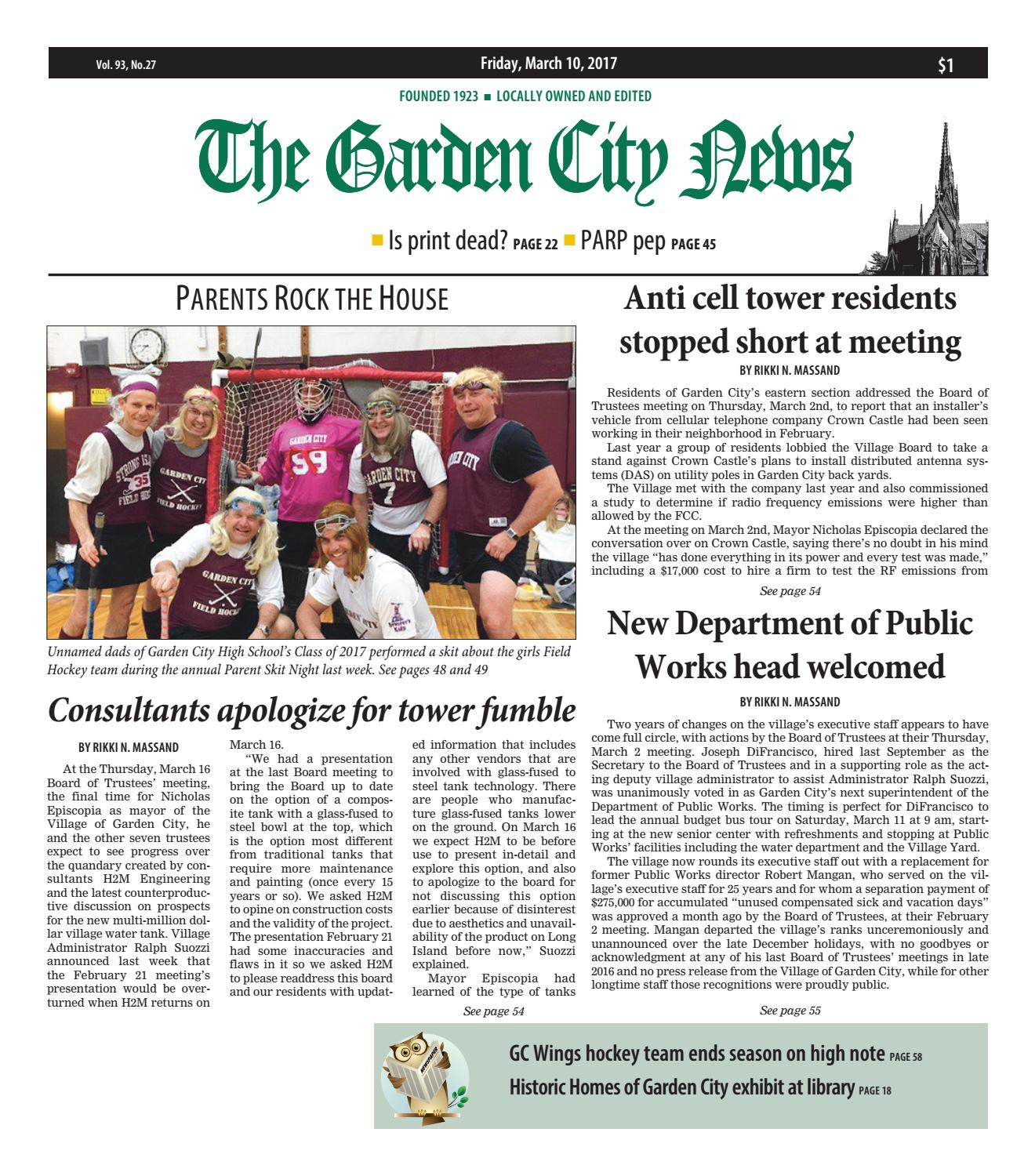 the garden city news 03 10 2017 by litmor publishing issuu - Fairchild Funeral Home Garden City
