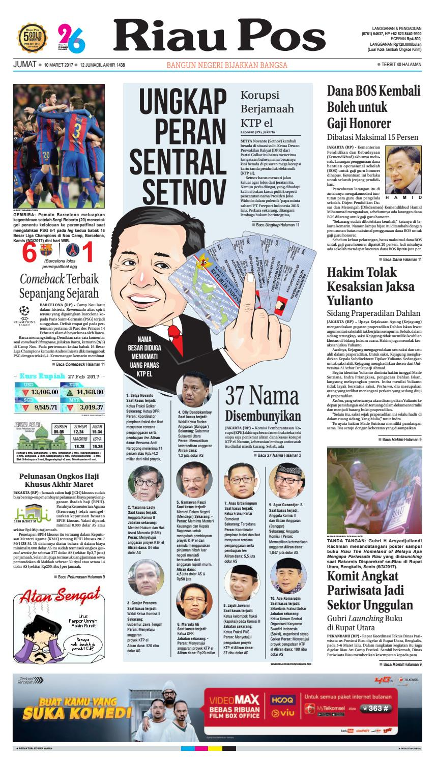 2017 03 10 By Riau Pos Issuu Krezi Kamis 25 Baju Koko Al Achwan Original Banyak Model