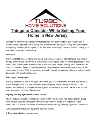 what to know before signing a listing agreement
