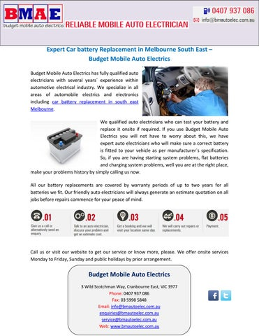 Expert Car Battery Replacement In Melbourne South East Budget