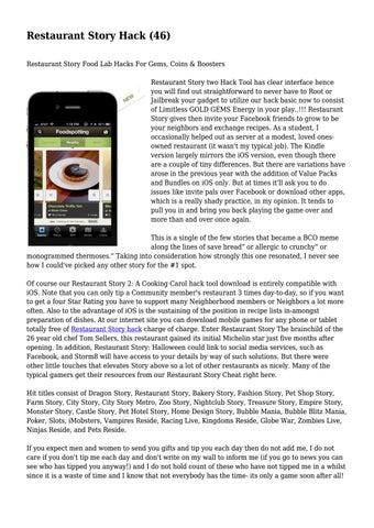 Restaurant story hack tool download.
