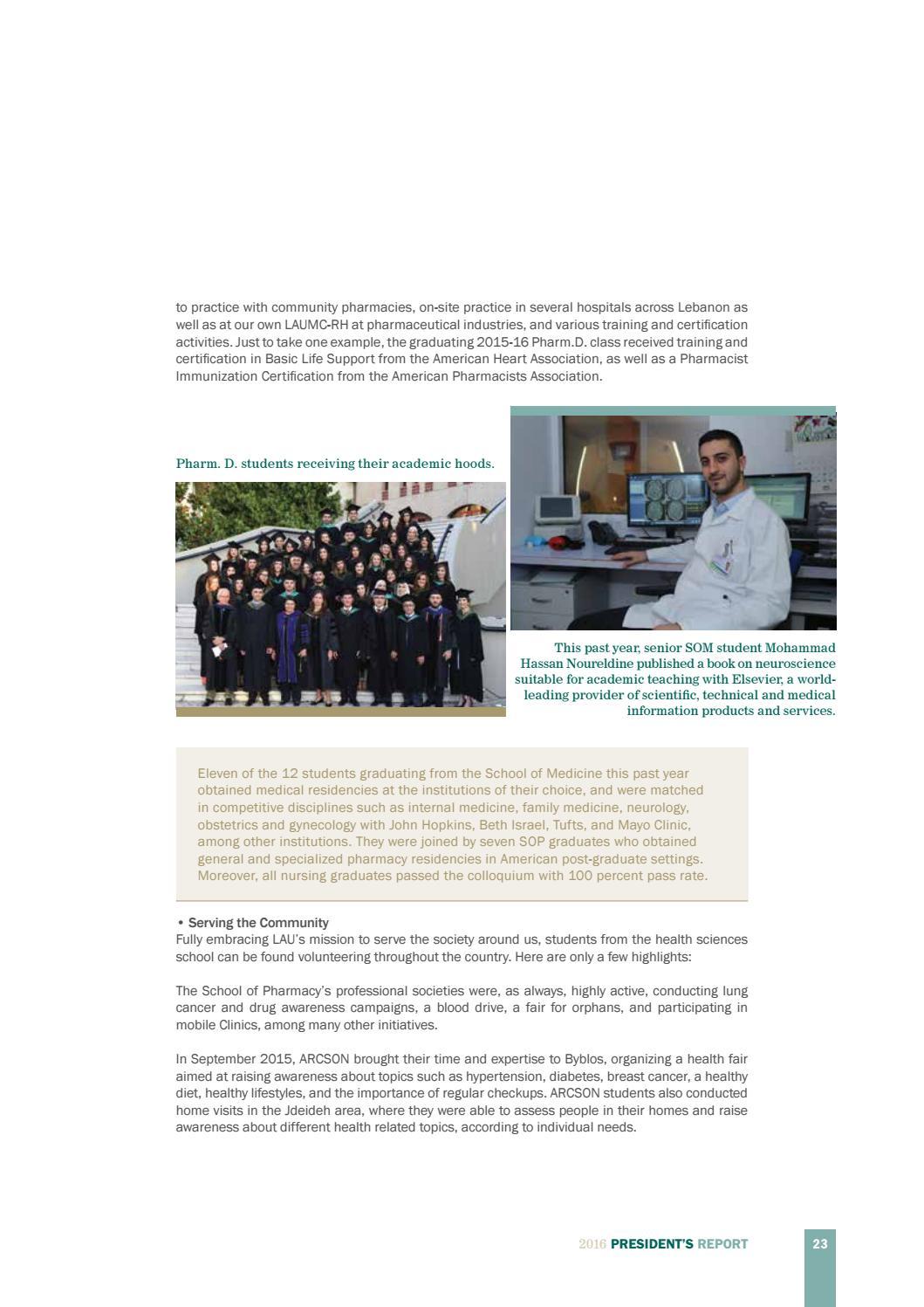 Laus President Report 2016 By Lebanese American University Issuu