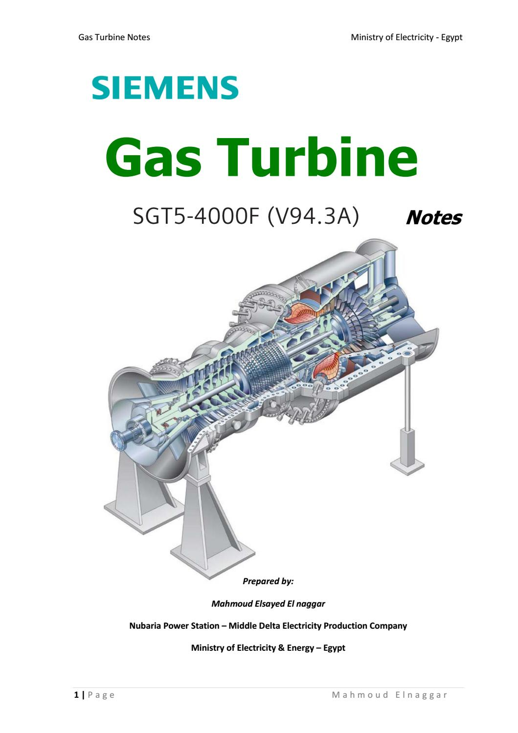 Siemens Gas Turbine By Islam Elfekky Issuu
