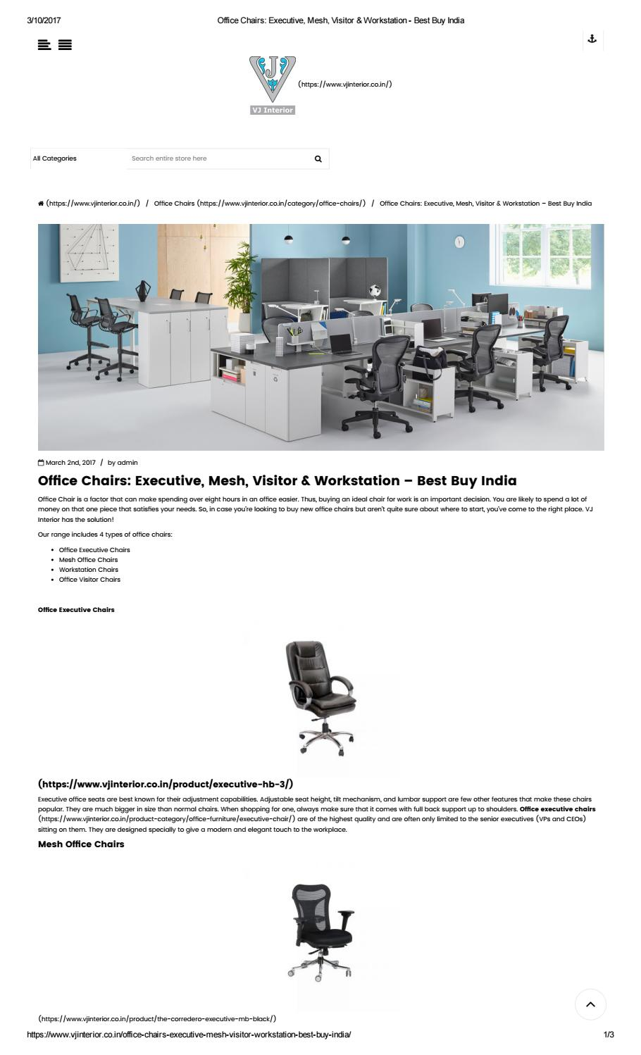 Executive Mesh Visitor Workstation Office Chairs Buy Online By Garima Sharma Issuu