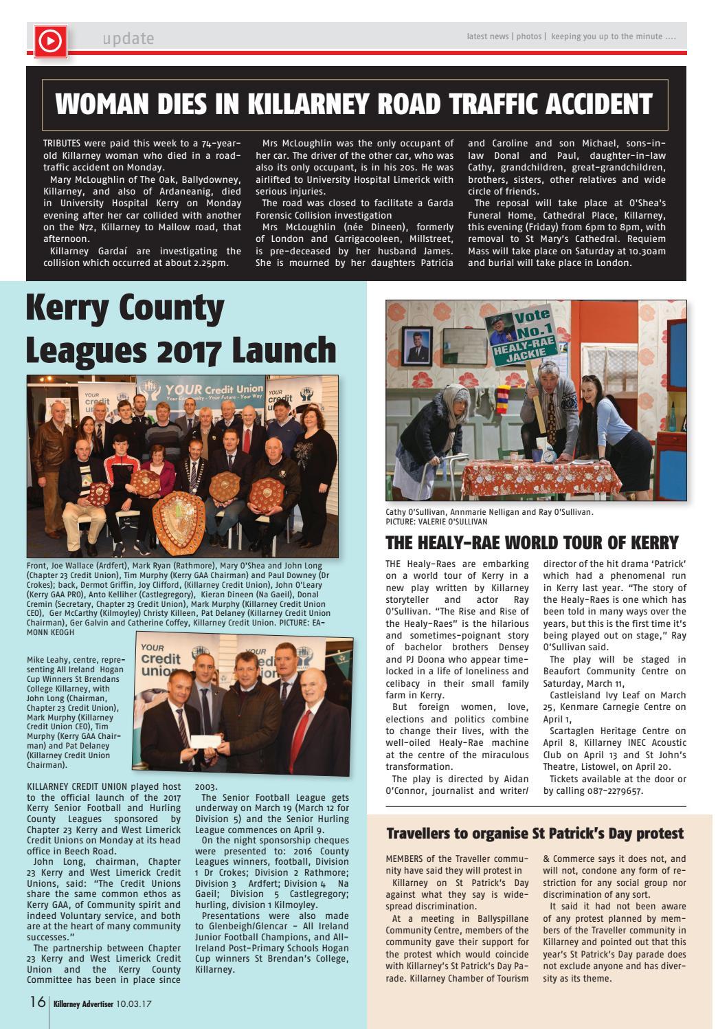 Killarney Advertiser, March 10th 2017 by Killarney