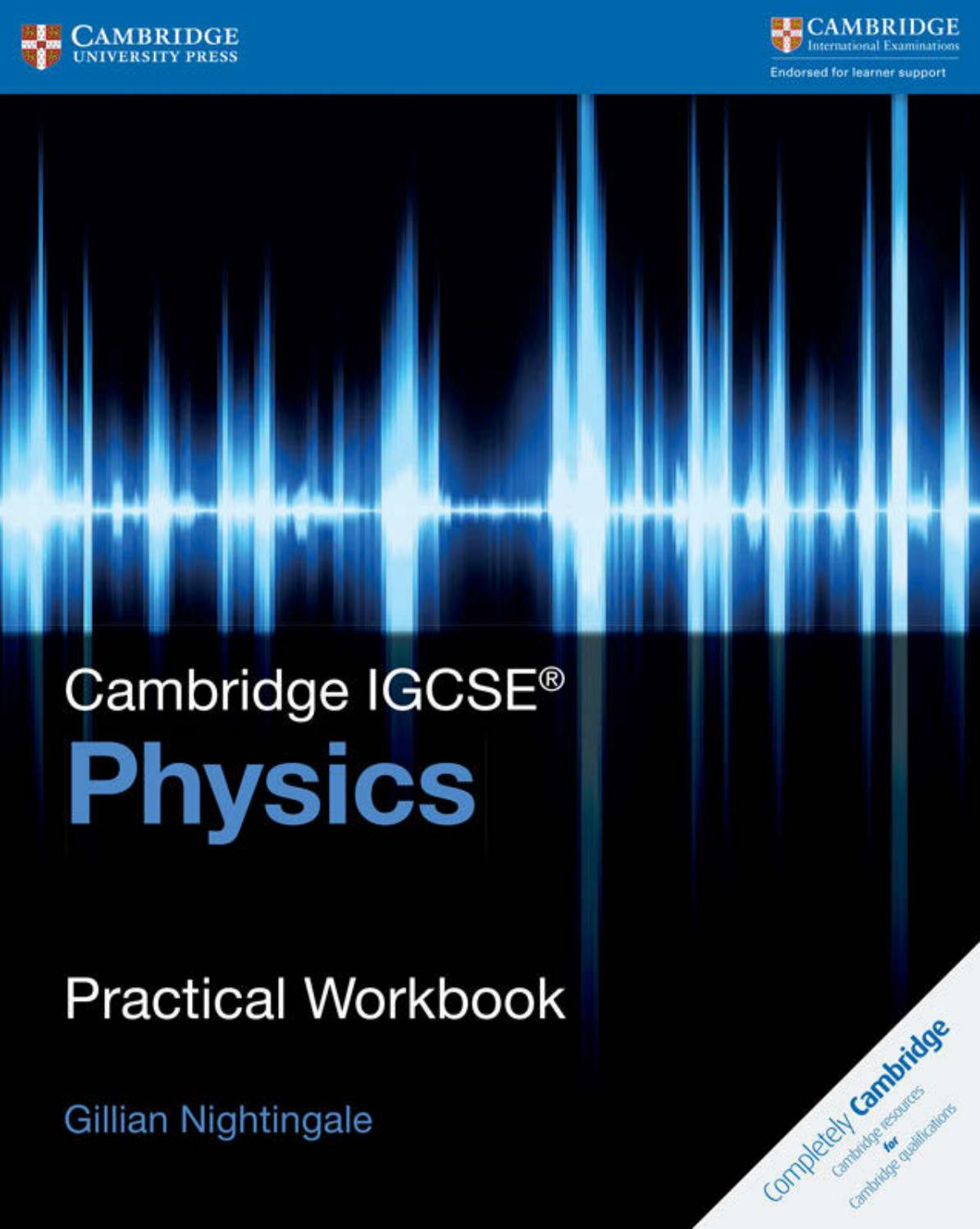 Preview Cambrigde IGCSE® Physics Practical Workbook by Cambridge ...