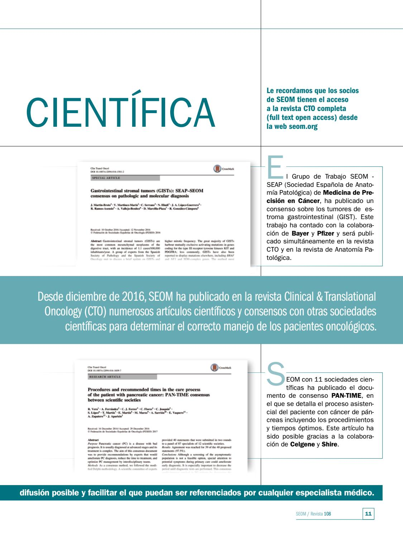 Revista SEOM 108 – ENERO/FEBRERO 2017 by SEOM Sociedad Española de ...