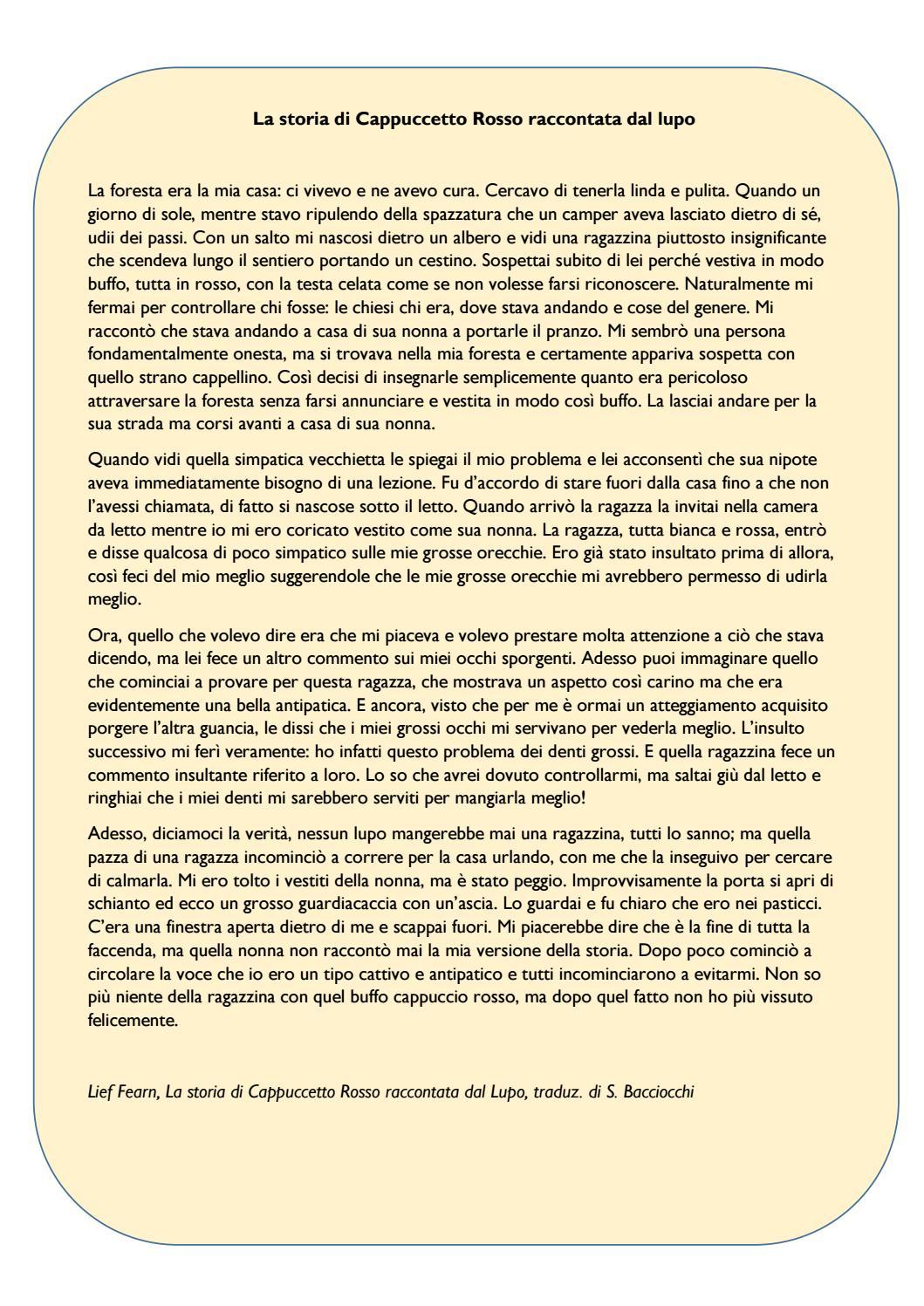 FIABA DI CAPPUCCETTO ROSSO PDF