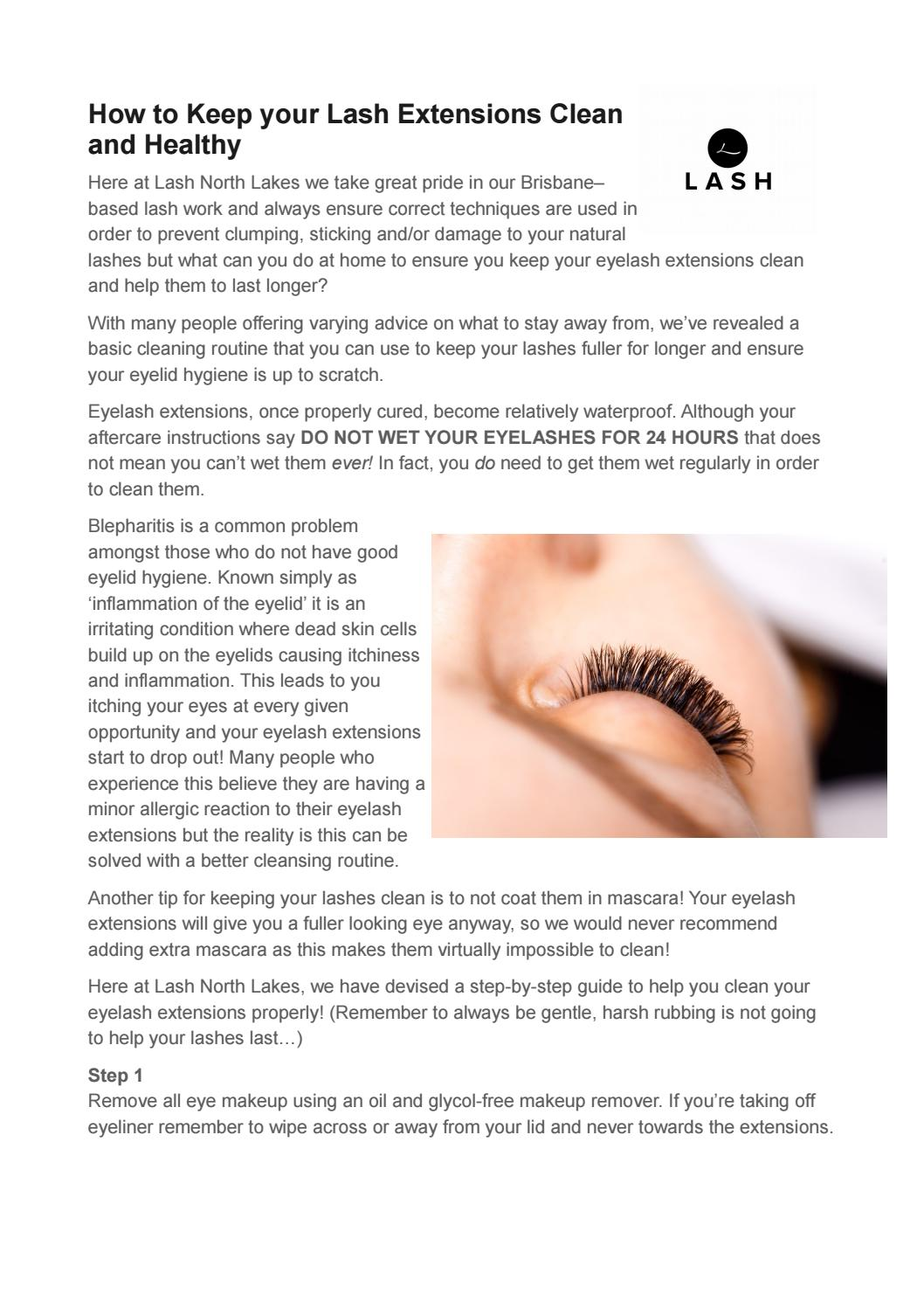 How To Keep Your Lash Extensions Clean And Healthy By Lash North